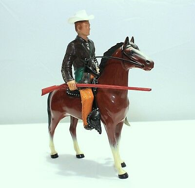 Hartland Jim Bowie With Horse - Complete With Long Rife Gun & Correct Hat