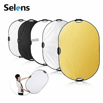 Selens 5 in 1 80x120cm Handheld Collapsible Oval Light Reflector for Photography