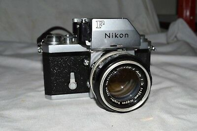 Nikon F With Photomic And 50Mm Nikkor-S Auto Lens