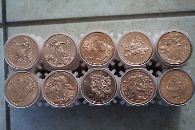 ZOMBUCK SERIES Complete Set 1-10 Zombie Copper Round 1 oz. Coins