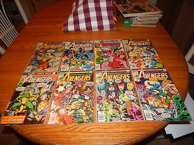 KEY Bronze Age Comic Lot Of 8 The Avengers #'s 135,153-155,159-162 FN Condition