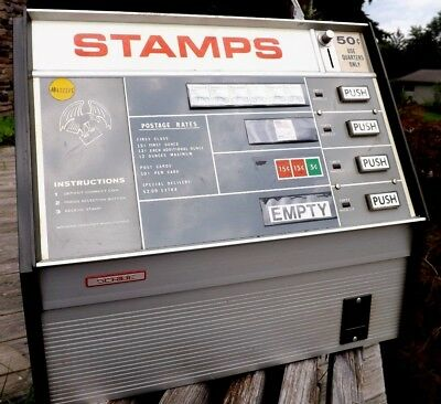 Post Office Stamp Machine Coin Operated Electrical Vending Dispenser Advertising