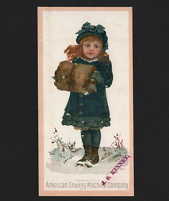 OPC Vintage Trade Card American Sewing Machine Co. 6 1/2 x 3 1/2
