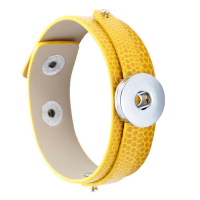 New Collection Yellow Alloy Snap Charm Bracelet Fit 18mm Snap Button Jewelry