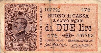 Currency Selection, Italy Bank 2 Lire