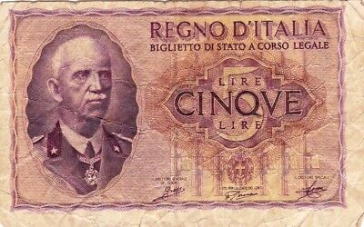 Currency Selection, Italy Banknote 5 Lire