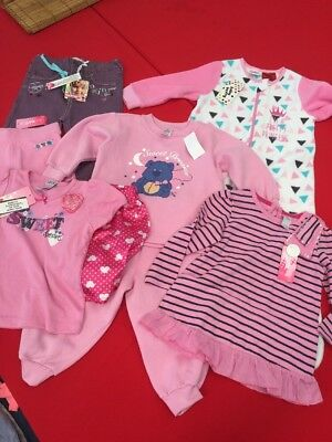 Size 2 Girls Bulk Lot All New With Tags Jeans Top Pjs Shorts Sleeping Bag
