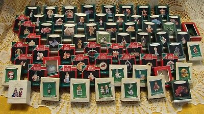HUGE LOT of 65 HALLMARK MINIATURES MULTIPLE YEARS ALL NEW IN BOXES