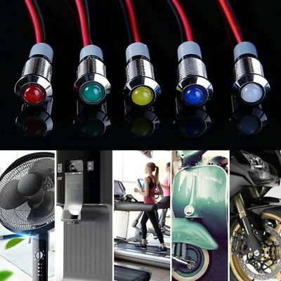 8mm Metal Waterproof LED Indicator Light Pilot Panel Signal Warning Lamp