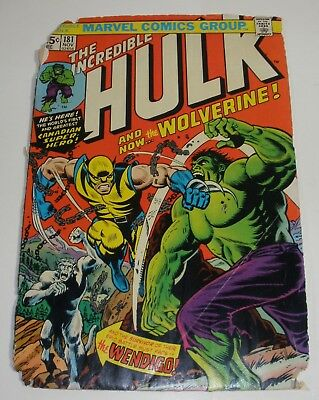 Incredible Hulk 181 First Appearance of Wolverine Terrible condition