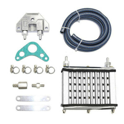Silver CNC oil cooler kit Radiator 140/150/160cc PIT PRO Trail Dirt Quad Bike