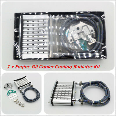 CNC Aluminum Engine Oil Cooler Cooling Radiator Kit For 50/110/125/140/150cc ATV