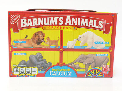Nabisco Barnums Animal Crackers Box Cage Barnum's Unopened Caged Discontinued