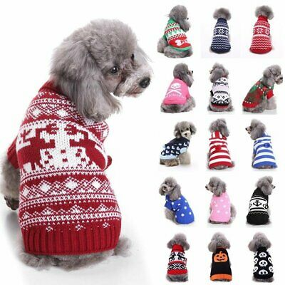 Pet Dog Christmas Clothes Winter Warm Sweater Puppy Cat Coat Xmas Custum Sweater