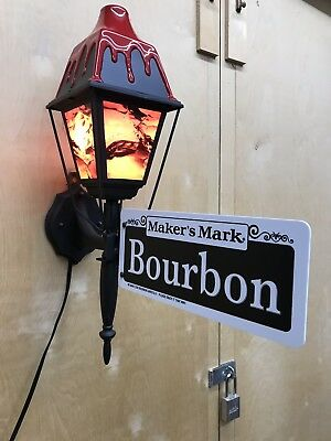 "Makers Mark Bourbon Lighted 21"" Street Sign 2006 MINT NEW"