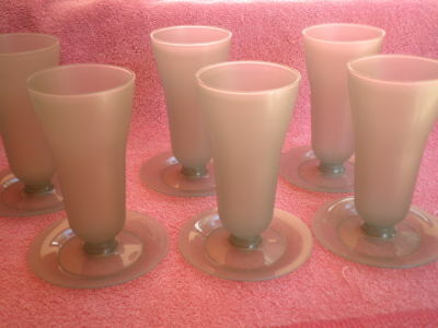 Set of 6 Vintage TUPPERWARE Grey Parfait Glasses - (H) 13cm