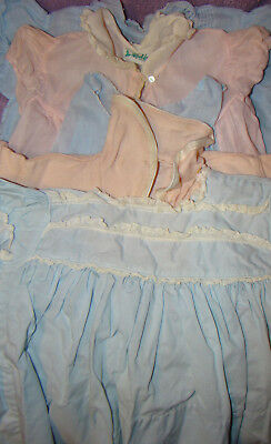 VTG Baby Infant Clothes Alfred Leon Philippines 5 Pieces Light Pink and Blue