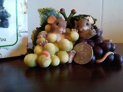 charming tails item 89/170 i'm so grape-ful for you mice mouse ladybug