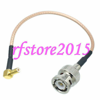 Cable RG316 6inch BNC male plug to SMB male plug right angle RF Pigtail Jumper