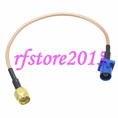 Cable RG316 6inch Fakra SMB C 5005 male plug to SMA male plug RF Pigtail Jumper