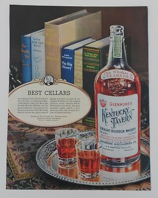 Vintage Advertisement For Glenmore's Kentucky Whiskey & National Casket Company