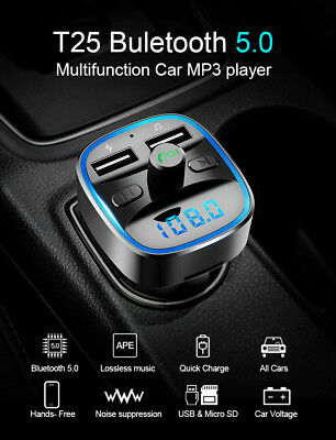 Car Kit Handsfree Wireless Bluetooth FM Transmitter LCD MP3 Player USB Charger