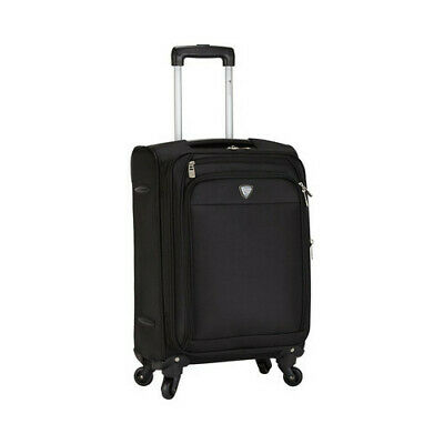 """Travelers Club Unisex  Monterey 18"""" Expandable Rolling Carry-On Black Size OSFA"""