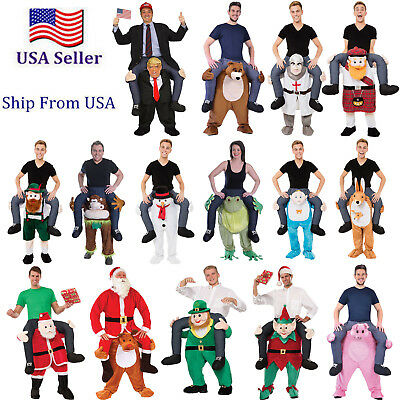 2018 Shoulder Carry Ride On Piggy Back Fancy Dress Costume Outfit Mens Womens US