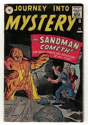 Marvel Comics 2.5 Good + Prototype SANDMAN THOR #70 Journey into mystery