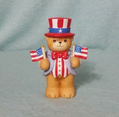 Lucy & Me Bears by Enesco Patriotic Uncle Sam Fouth of July flags USA