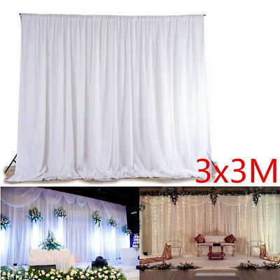 3x3m Wedding Party Backdrop Curtain Drape Stage Swag Photo Background Decor