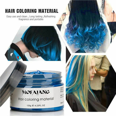 Mofajang Unisex DIY Hair Color Temporary Styling Wax Mud Dye Cream Modeling