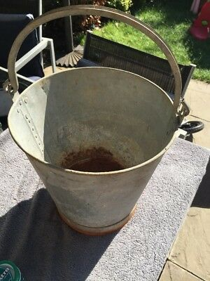 Vintage Galvanised Bucket, Horse Feeder