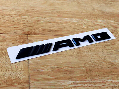 Gloss Black AMG logo Replacement Decal Badge Sticker For Mercedes-Benz CLS 63