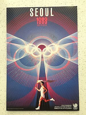 Fantastic 1988 Seoul Olympics Postcard - Others Years Available From Aust.