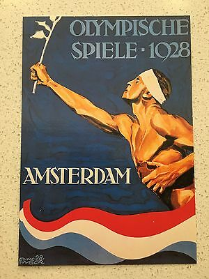 Fantastic 1928 Amsterdam Olympics Postcard - Others Years Available From Aust.