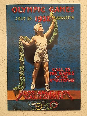 Fantastic 1932 Los Angeles Olympics Postcard - Others Years Available From Aust.
