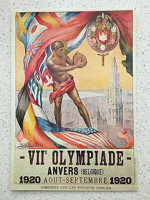 Fantastic 1920 Antwerp Olympics Postcard - Others Years Available From Aust.