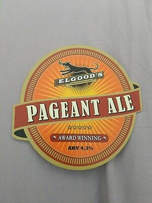 beer pump clip badge - Elgoods Brewery Pageant ale
