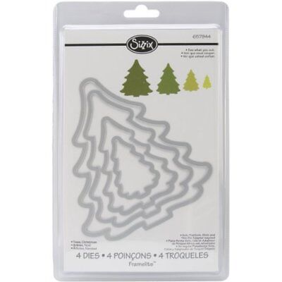 Sizzix 657944 4-Pack Framelits Trees Christmas (4-Pack|Trees, Christmas)