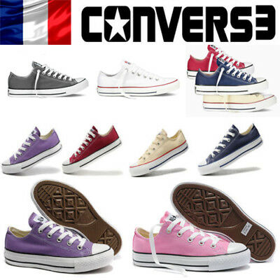 Unisexe Star Taylor Tops Converse Hi Chuck Toile Lo Baskets All clF1JK
