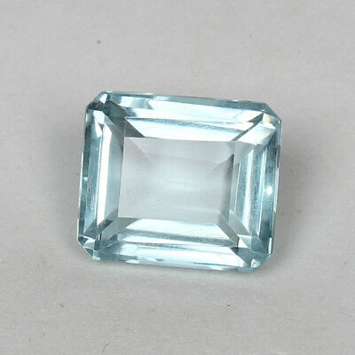 22.25 Ct. Natural Aquamarine Greenish Blue Color Octagon Cut Loose Certified Gem