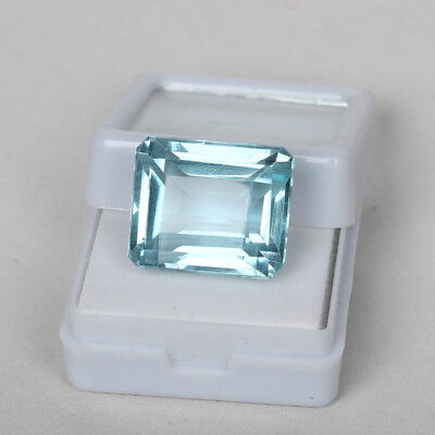22.80 Ct. Natural Aquamarine Greenish Blue Color Octagon Cut Loose Certified Gem