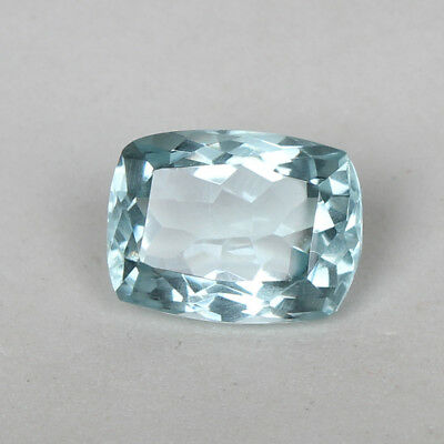 18.80 Ct. Natural Aquamarine Greenish Blue Color Cushion Cut Loose Certified Gem