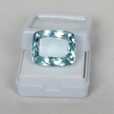 23.45 Ct. Natural Aquamarine Greenish Blue Color Cushion Cut Loose Certified Gem