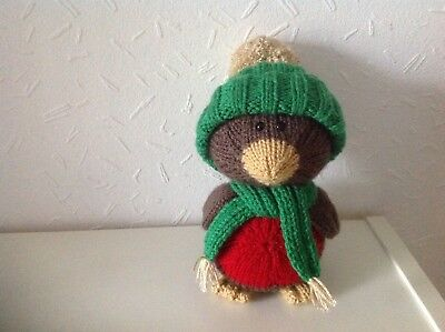 Hand Knitted Robin