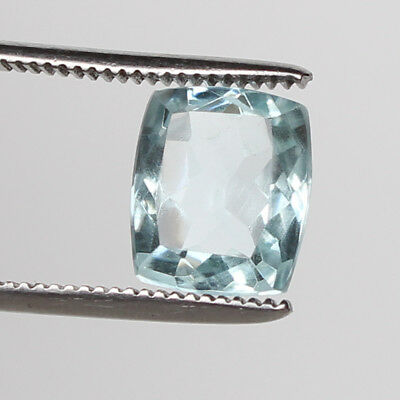 7.30 Ct. Natural Aquamarine Greenish Blue Color Cushion Cut Loose Certified Gem