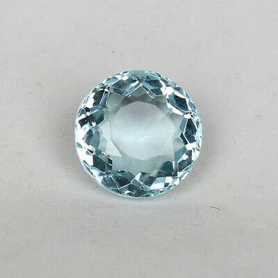 20.95 Ct Natural Aquamarine Greenish Blue Color Round Cut Loose Certified Gem