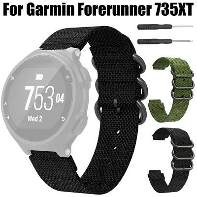 Replacement Soft Nylon Sport Loop Wrist Band Strap For Garmin Forerunner 735XT
