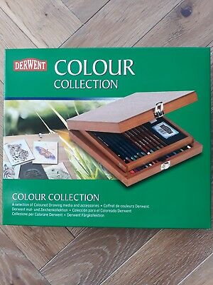 Derwent Professional Colour Pencil Collection Wooden Box of Drawing Media & Acce